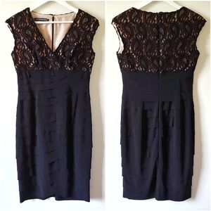 Jones New York Jones Wear LBD v-neck lace dress 6